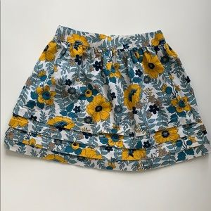 Janie and jack girl floral skirt 4T